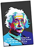 Panther Print Albert Einstein Quotes Modern Art Canvas Print Picture Wall Art Large 30 x 20 Inches (76cm x 51cm)