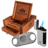 Macanudo 3 in 1 Ashtray Set with Cigar Cutter and Triple Torch Lighter