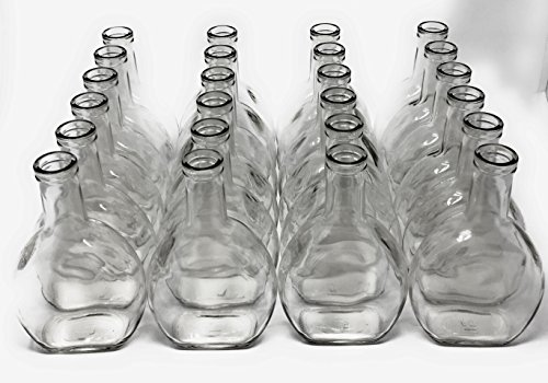 375 ml (12.5 oz) Liquor Decanter Oval Shape Glass Bottles (24 pack) 22 mm Cork Not Provided by Packaging For You