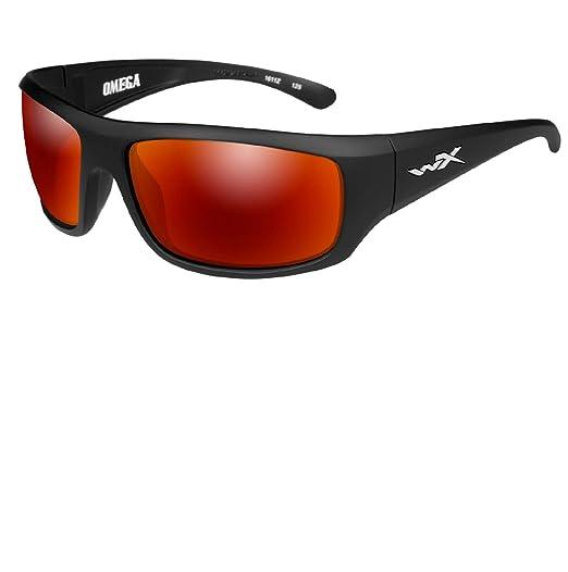 d151efe1501a Amazon.com  Wiley X Omega Crimson Mir Matte Blk  Sports   Outdoors