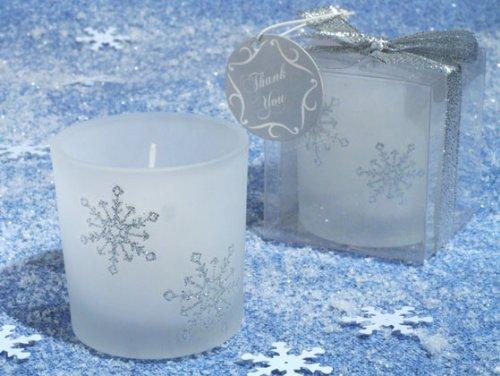 Winter Wonderland Frosted glass votive candle. [SET OF 48]