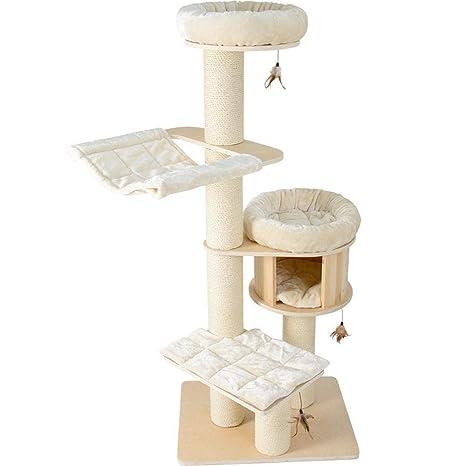 Dixinla Árbol Gatos Honeypot Gato sólido Madera Alemana Lujo Cat Nest Estante de Gato Gato árbol