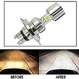 Vheelocityin Silver Missile Hi Low Beam H4 Bike Bulb Motorcycle LED Headlight Bulb