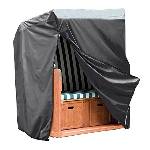 Monkey Mountain 30293 Schutzhülle DELUXE für Strandkorb - 130 cm x 100 cm x 170 cm / 134 cm - Oxford Polyester 420D inklusive Tragebeutel