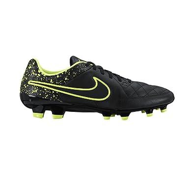 finest selection 5d837 ca9cb NIKE Tiempo Genio Leather FG Soccer Cleat (Black, Volt) Sz. 7.5