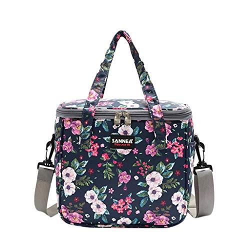 MiMiey Kühltasche Klein Leicht Lunch Tasche Isoliertasche Lunch Bag, wasserdichte Schöne Lunchbox für Frauen Arbeit Schule Faltbar Wasserdicht Reißverschluss (A)