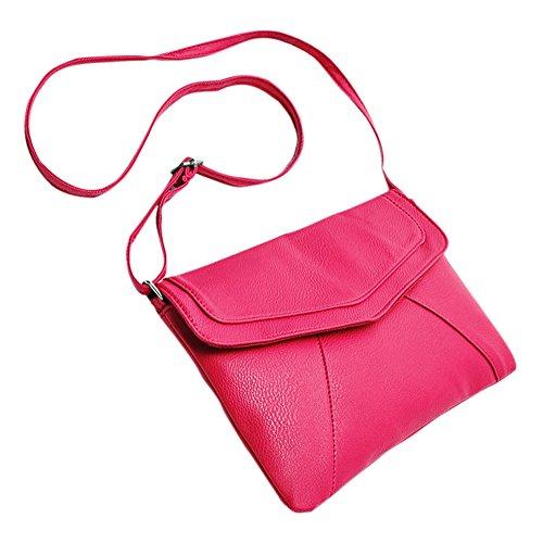cuerpo rosado de de Bolsa hombro de Monederos Nuevo SODIAL de Moda Bolsas Bolsas sobre Bolso cruzado caliente mujer Bolsa de cuer cartapacios mensajero de SZqxBxW