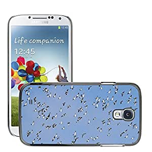 Just Phone Cases Etui Housse Coque de Protection Cover Rigide pour // M00128176 Bandada de Pájaros Gansos Aves // Samsung Galaxy S4 S IV SIV i9500