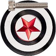 "1-1/8"" MTB Headset cap 1 1/8 Screws Top Cap screw Captain America Shell Cover Aluminum Alloy Mountain Roa"