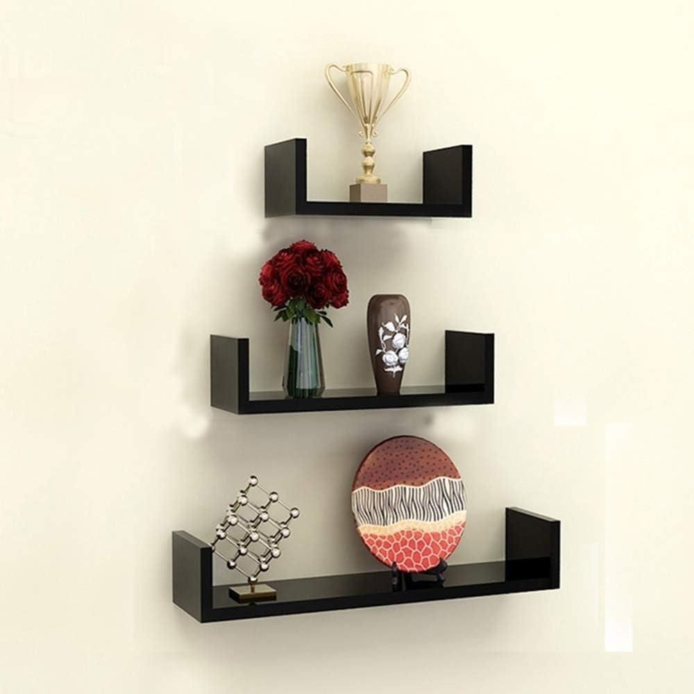 TANBURO Mensola a Muro Set da 3 Mensola Supporto da Parete Scaffale MDF Bianco per Libro CD