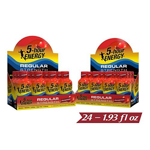 5-hour ENERGY Shot, Regular Strength Pomegranate, 1.93 Ounce, 24 Count (Energy 5hr Grape)