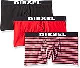 Diesel Men's 3-Pack Shawn Hero Fit Trunk, Red/Black, Medium