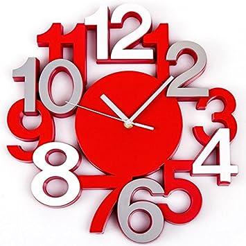 Générique Horloge Murale Design Chiffres En Relief Pendule