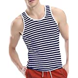 COOFANDY Men's Crew Neck Y-Back Tank Tops Sleeveless Workout Muscle Undershirts