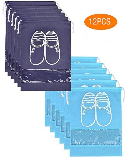 Agreatca 12Pcs Portable Travel Shoe Bags Space Saving Storage Bags Dust-Proof Waterproof Shoe Organizer Travel Shoe Bags by Agreatca (Image #3)