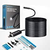 USB 3 in 1 Endoscope, Gadgetise Borescope, USB Inspection Camera System with 6 LED Lights | Improved Brightness, HD Crisp Images & Video, Waterproof, Semi Rigid Cable | for Drain, Sink, Holes & Pipes