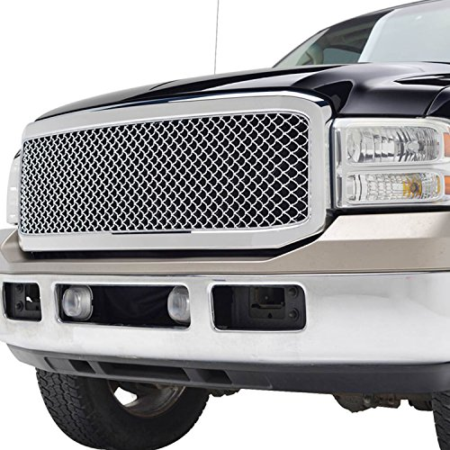Super Duty ABS Replacement Grille With Shell for 05-07 Ford Super Duty F250/F350 - Chrome ()