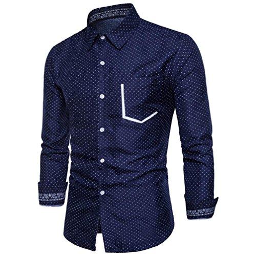 Delgada Manga Blusa Superior Larga De La De Impresiã³N Los De Hombres Moda Oyedens Camisa Personalidad La La Ocasional Armada De De De 4vqwnn8xd