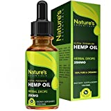 Derived from Natural Hemp Seeds, These Pure, Vegan Hemp Oil Drops Are 100% Safe. Loaded with Omega 3 & 6 Fatty Acids. Manufactured in the USA. 1 Fl. Oz. (30ml) Seeking an all-natural way to support skin & heart health? Our Nature's Essentials Hemp Se...