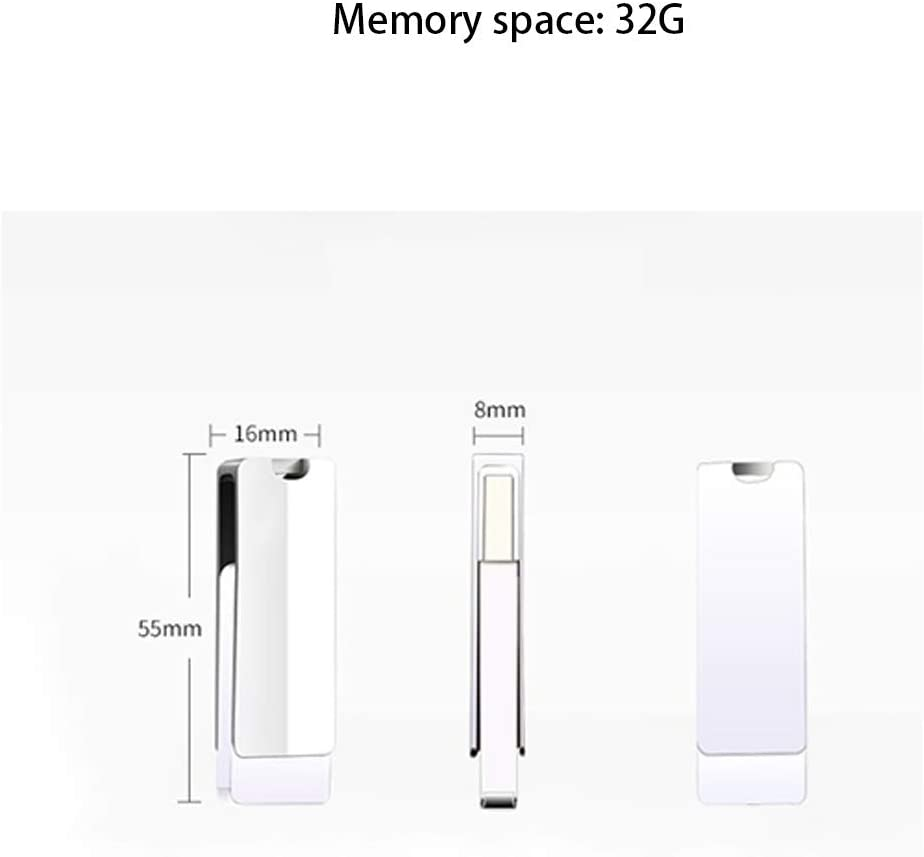 Size : 32G Computers Accessories USB 3.0 Flash Drive Silver 10-11 360/° Rotation Read Speed Up to 40-90MB // S Write 15-30MB//s Metal Memory Stick