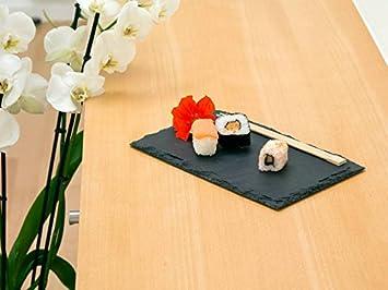 Assiette en ardoise | Set de table / Plateau de service en pierre ...