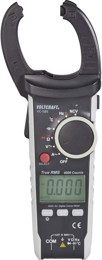 diam/ètre de 15 mm CAT III 600 V1 mA 80 A VOLTCRAFT VC-539/Pince amp/èrem/étrique CA//CC avec multim/ètre LCD 4000 points