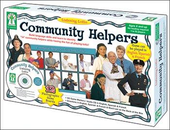 Carson-Dellosa Listening Lotto: Community Helpers Board Game