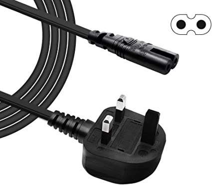 BERLS - Cable IEC C7 de 2 pines con figura de cable de ...