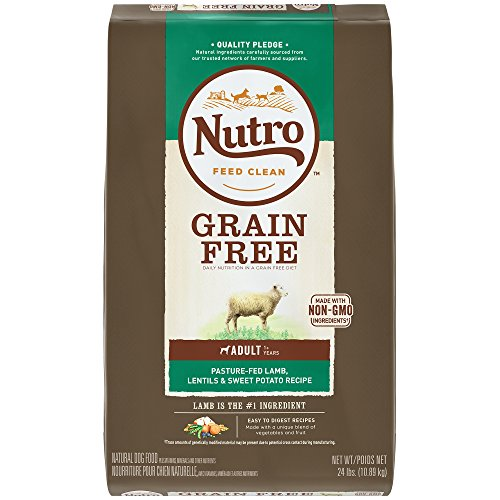 Nutro Grain Free Adult Dry Dog Food Pasture-Fed Lamb, Lentils and Sweet Potato, 24 lb. Bag
