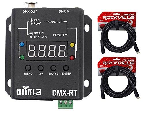 Chauvet DJ DMX RT DMX Recording Device w/Playback+Micro SD Card w/Display+Cables