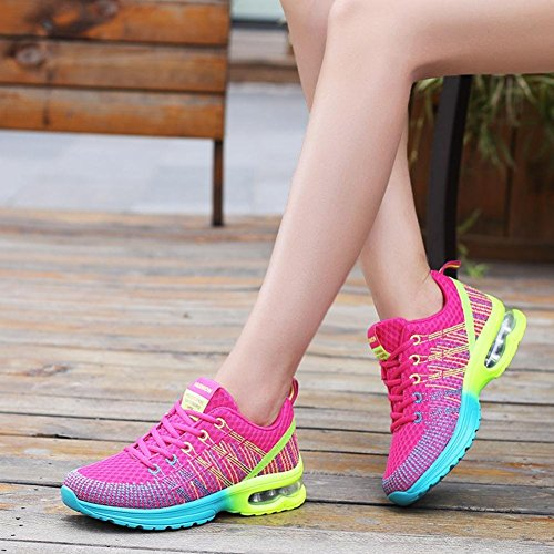 Neutral running shoes and air cushion sports shoes outdoor training running shoes Rosa rossa xEyICTH