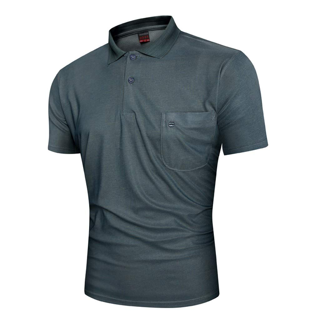 MONIVEVE Shirts for Men Dry Fit Short-Sleeve Polo Athletic Casual Collared T-Shirt