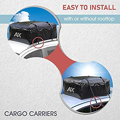 Abaxial (18 Cubic Feet) Waterproof Rooftop Cargo Carrier- (Heavy Duty) Car Roof Cargo Bag- Roof Top Luggage Storage Bag- (Bonus) Anti-Slip Mat. Perfect for Car, Van,Truck, SUV with/Without Rack.: Sports & Outdoors
