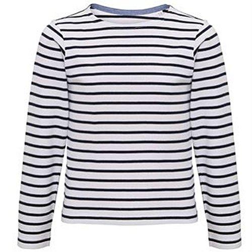 Asquith & Fox Childrens/Kids Mariniere Coastal Long Sleeve T-Shirt (7/8 Years) (White/Navy) ()