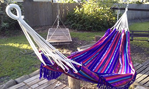 Hammock Handmade Double Size Incan Design Fair Trade (Purple)