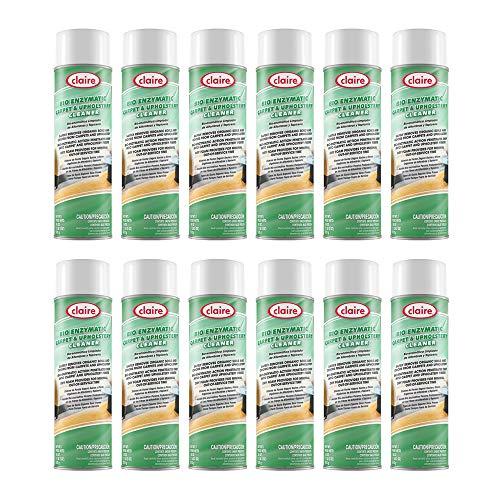 Claire CL589-12pk Bio Enzymatic Carpet & Upholstery Cleaner; 18 Oz. Net Wt, 12 Count