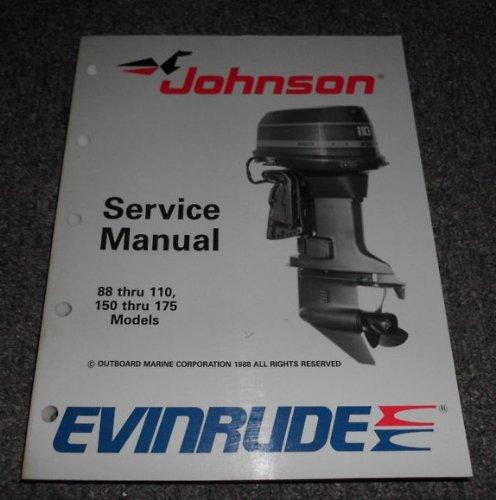 1989 Johnson Evinrude 88 90 100 110 150 155 175 Manual