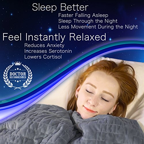 Dr. Hart's Weighted Blanket to Improve Sleep & for Anxiety Relief | Heavy Gravity Blanket | Natural Calming Sleep Aid & Stress Relief | Patented Design | Luxurious Cover Included | 25 lbs | 60x80