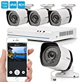 Zmodo 8 Channel NVR 4 720p HD Security Camera Smart PoE System No Hard Drive