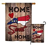 Ornament Collection S191144-BO State North Carolina Home Sweet Home Americana States Impressions Decorative Vertical House 28″ X 40″ Garden 13″ X 18.5″ Double Sided Flags Set Printed In USA MultIColor