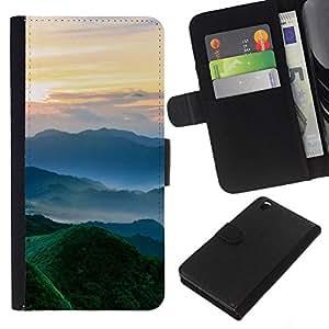JackGot ( Natura Bella Forrest verde 102 ) HTC DESIRE 816 la tarjeta de Crédito Slots PU Funda de cuero Monedero caso cubierta de piel