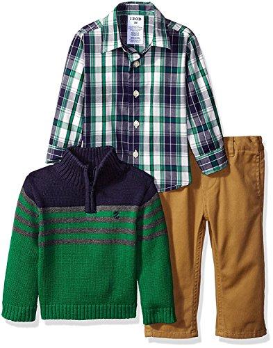- Izod Baby Long Sleeve 1/4 Zip Sweater Set, Moderate Green, 24 Months