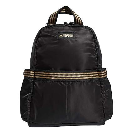 adidas VFA Backpack Mochila, Mujer, Black/Gold Leurex, Talla Única