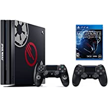 PS4 Star Wars Bundle (2 Items): PlayStation 4 Pro 1TB Limited Edition Console - Star Wars Battlefront II Bundle and an Extra PS4 Dualshock 4 Wireless Controller - Jet Black