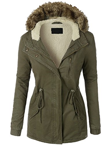 KOOLDO Womens Sherpa Faux Fur Lined Clas - Fur Lined Jacket Shopping Results