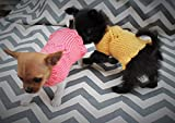 Teeny Tiny Hand Knit Dog/Puppy/Kitten Sweater with Heart for 1 to 1 1/2 lbs XXXS for Chihuahua Yorkie Maltese Pomeranian Teacup Puppies