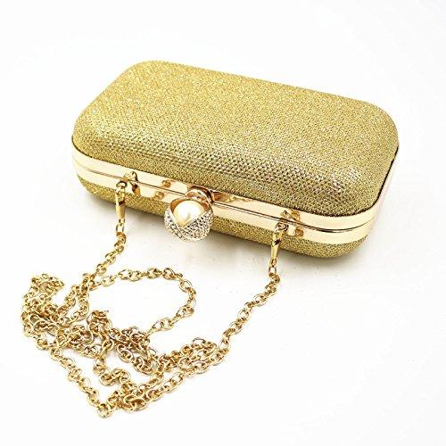 HMGTUK, Borsa a spalla donna oro Gold