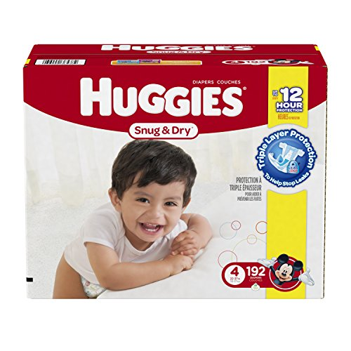Amazon.com: Huggies Snug and Dry Diapers, Size 4, Economy Plus ...