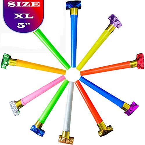 36 pcs XL Party Blowers With Noise / DJ Party Blowers / Squawkers / Party Supplies / Party Favors / Party Blowers by DJ Blowers