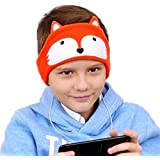 Homelove Wired Kids Headphones with Ultra Thin Adjustable 1/8'' Speakers and Super Comfortable Soft Fleece Headband or Patch for School or Home Fox